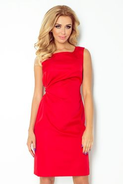 Červené krátke šaty s viazaním pod prsiami 126/5