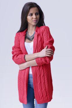 Červeno ružový dámsky sveter April d8588478f35