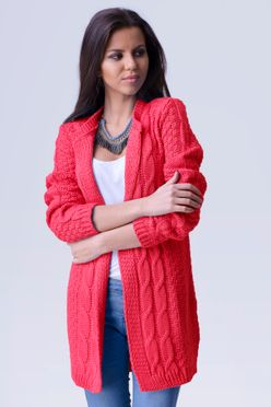 2fa5ce5476ab Červeno ružový dámsky sveter April
