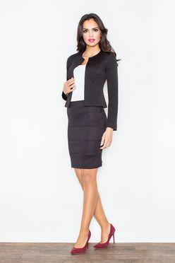 Čierna krátka dámska sukňa M084