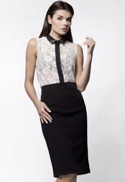 aba803ca08a2 Čierna puzdrová biznis sukňa A29