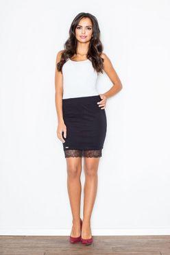 Čierna krátka dámska sukňa FG M419