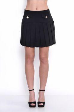 Čierna letná mini sukňa OX10009