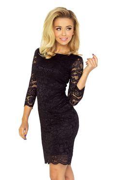 Čierne puzdrové šaty s čipkou 145 1 a7f39c08d8f