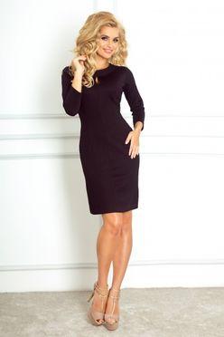 Kratké čierne puzdrové šaty so slzou 67-1
