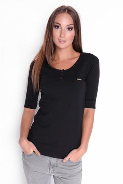 Čierne dámske tričko OX 2504