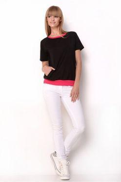 Čierno-ružové tričko OX 2330