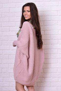 Dámský pletený sveter v ružovej farbe Juliett