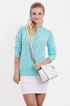 Dámsky pulóver JASMIN v mätovej farbe