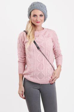 Dámsky pulóver JASMIN v ružovej farbe