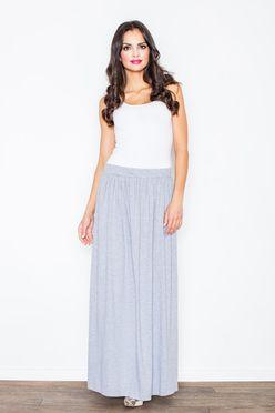 Dlhá sivá dámska maxi sukňa M310