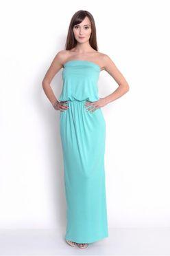 1211bb9c0338 Dlhé dámske šaty OX8204 mätové ...