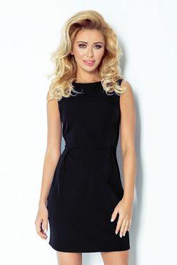 Elegantné čierne krátke šaty 103/3