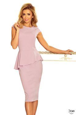 Fialové midi dámske šaty s volánom 192-2