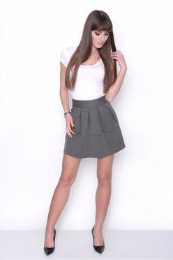 Grafitová dámska mini sukňa OX 10003