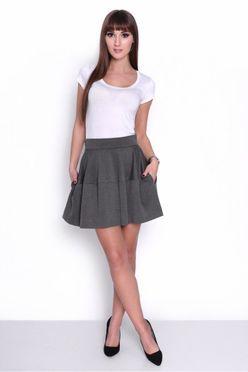 Grafitová sukňa OX 10004