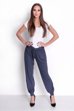 be1e616e0f9c Sivé elastické teplákové nohavice s vreckami OX1049 - JOIE.SK