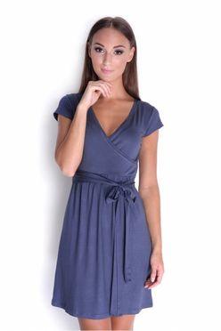 Grafitovo-modré dámske šaty OX 5416