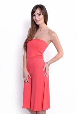 Korálová sukňa/šaty 2v1 OX8205