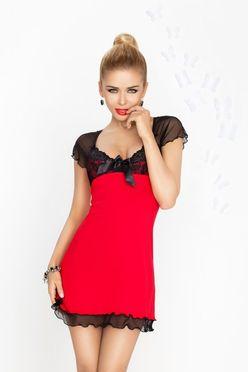 Nočná košieľka Irina červeno-čierna