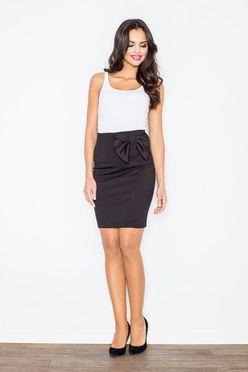 Krátka čierna sukňa M080