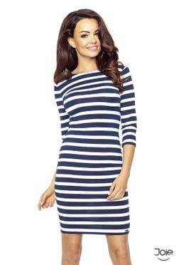 Krátke elastické námornicke dámske šaty 27-16