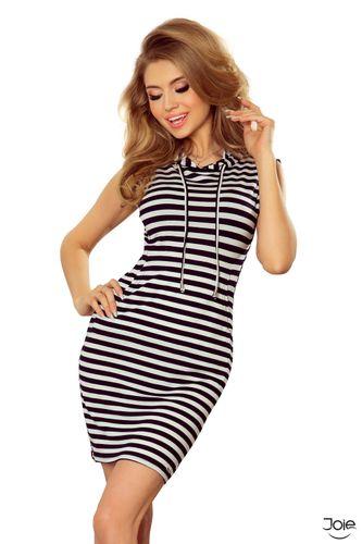 Krátke letné pásikavé dámske šaty 202-2