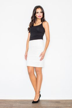 Krémová krátka puzdrová sukňa M084