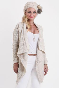 Krémový dámsky sveter OSSI