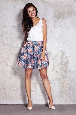 Kvetovaná dámska áčková sukňa IFM054