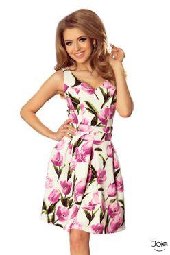 Letné kvetované áčkové šaty TULIPÁN 160-4 c1884df5beb