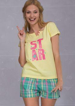 Limetkové dámske pyžamo LNS476