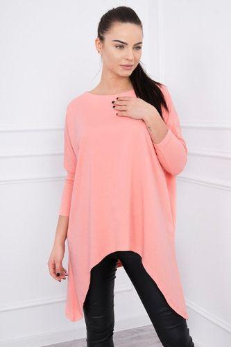 Marhuľkové predĺžené dámske tričko oversize K12215