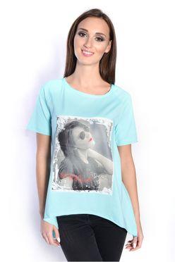 Mätová blúzka/tričko s potlačou fotky ženy OX2570