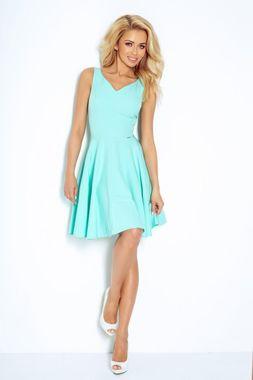 Mätové šaty so srdcovým výstrihom
