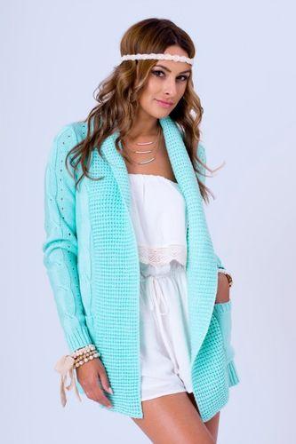Mätový dámsky pletený sveter WERA