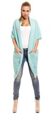 Mentolový dámsky sveter Ingrid