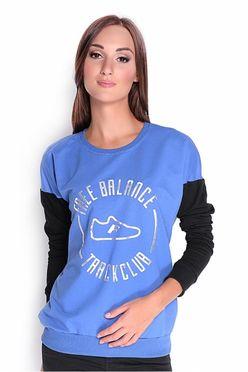 Modrá dámska mikina - tričko OX1971