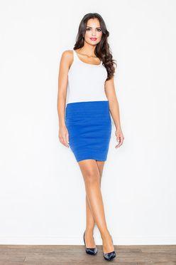 Modrá dámska puzdrová sukňa M084