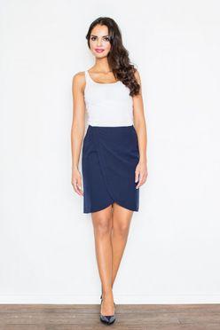 Tmavomodrá elegantná sukňa FG M272