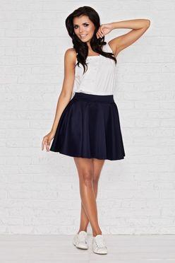 Modrá letná áčková sukňa IFM008