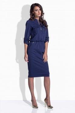 Modré dámske šaty so zipsom 160