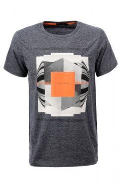 Šedo-oranžové pánske tričko MPO1911