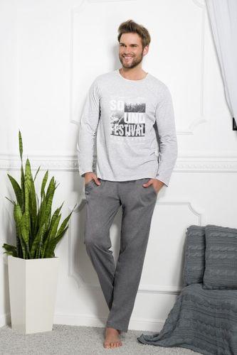 Pánske pyžamo Karol 1006 šedé