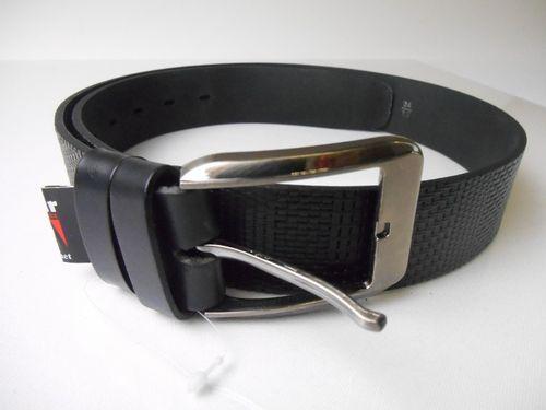 Pánsky celokožený opasok v čiernej farbe PM-4-ČP5