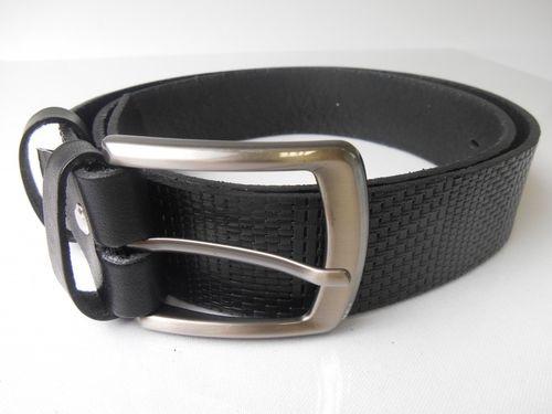 Pánsky celokožený opasok v čiernej farbe PM-4-ČP6