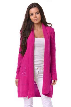 747d32735766 Pletený dámsky sveter Margaret ružový