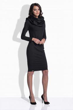 Priliehavé dámske šaty v čiernej farbe 159