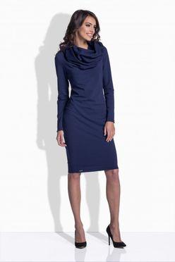 Priliehavé dámske šaty v modrej farbe 159