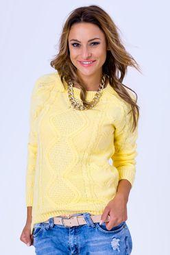 Dámsky pulóver Jasmin v citrónovej farbe
